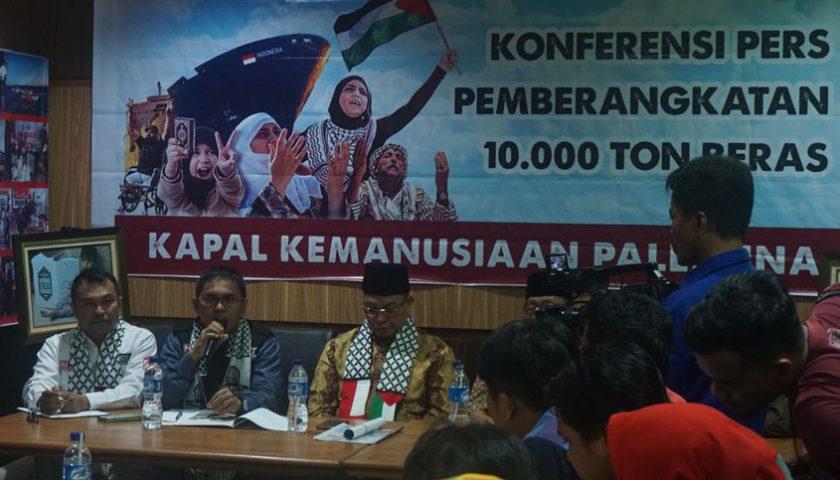 Aksi Cepat Tanggap Kirim Kapal Bantuan ke Palestina & Mesir 10.000 Ton Beras