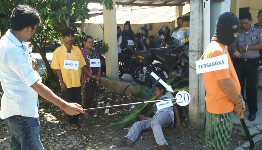 Rekonstruksi Pembunuhan Kepala Desa Terpilih, Tersangka Peragakan 25 Adegan