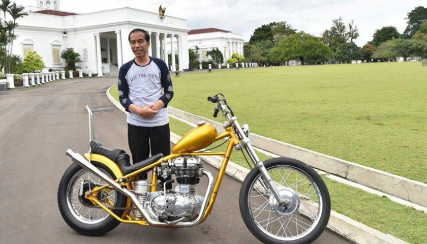 Jokowi Gas Motor Chooper, Paspampres Heboh