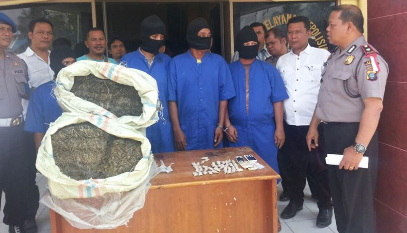 Jaringan Pengedar Ganja Asal Aceh Ditangkap di Belawan