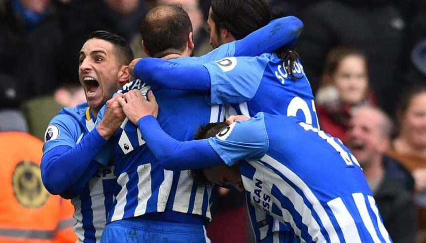 Liga Primer Inggris, Brighton & Hove Albion Sementara Ungguli Arsenal 2-1