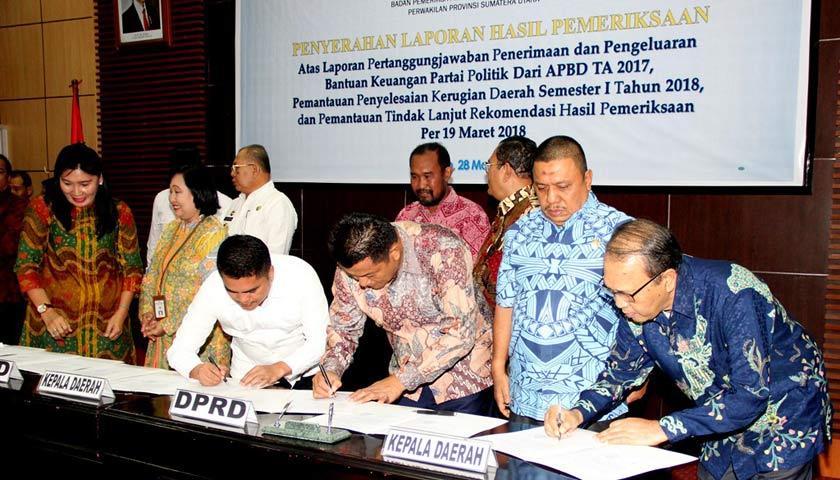 Walikota Medan Terima LHP Dari BPK RI Sumut