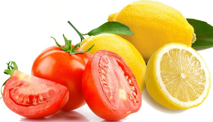 cara memutihkan wajah dengan masker tomat dan lemon