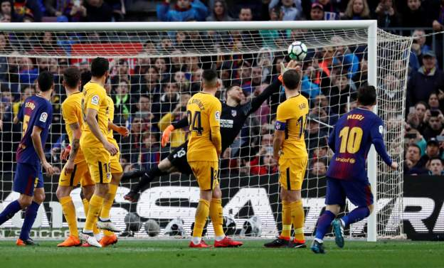 Gol Messi Bawa Barcelona Sementara Ungguli Atletico Madrid 1-0