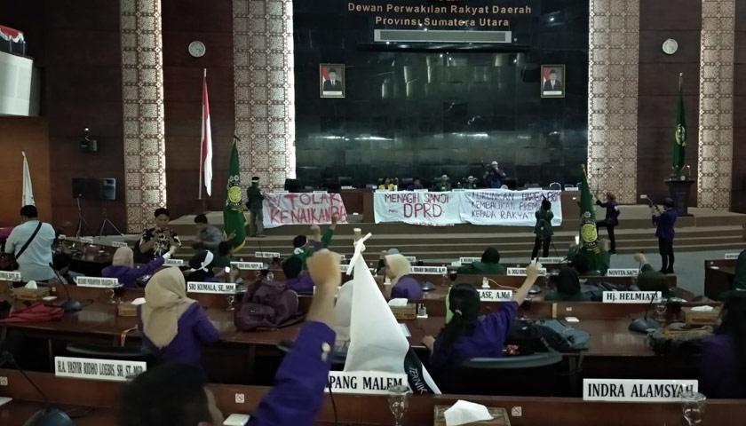 Demo Pertamina, Mahasiswa Sandera Anggota DPRD Sumut