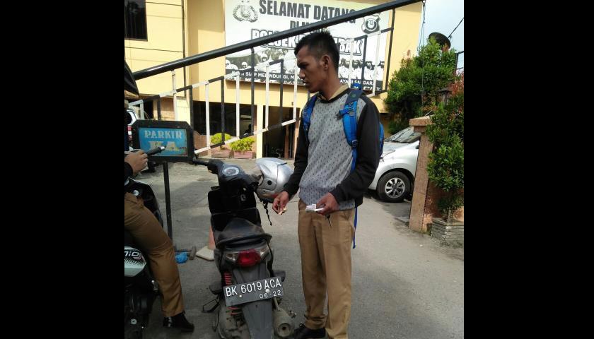 Gawat! Sepeda Motor Pegawai Dispenda Deli Serdang Raib Dari Kantor Camat Patumbak