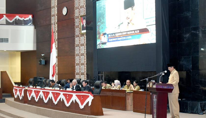 Gubsu Sampaikan LKPJ Akhir Tahun Anggaran 2017