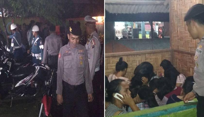 Kafe Remang-Remang Dirazia, 16 Pria dan 25 Wanita Diamankan