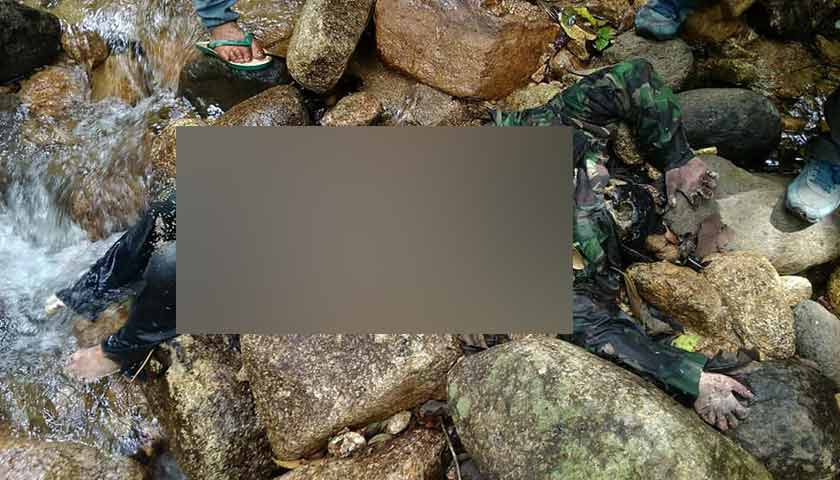 Mayat Penuh Belatung Ditemukan di Sungai Aek Hajarang Karo