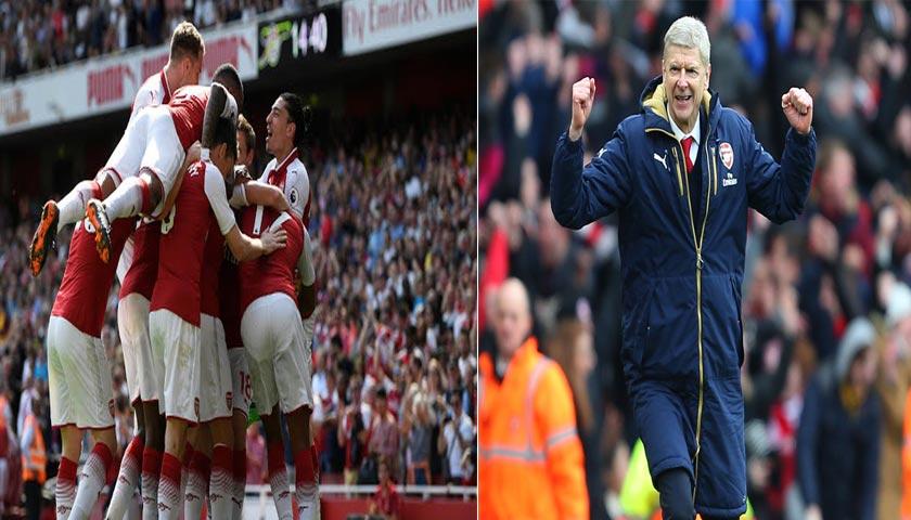 Arsene Wenger Tersenyum, Arsenal Menang Telak 4-1 dari West Ham United