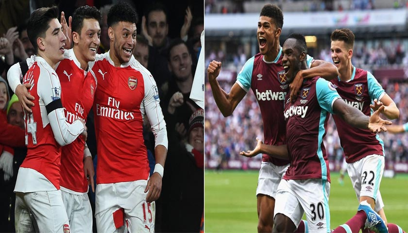 Arsenal VS West Ham United 22 April 2018