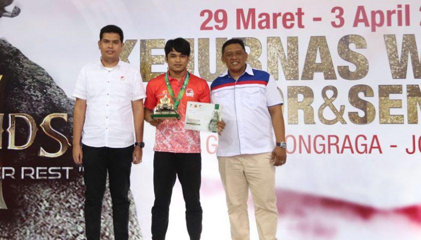 Jeka Saragih Atlit Simalungun Juarai Kejurnas Wushu Indonesia 2018
