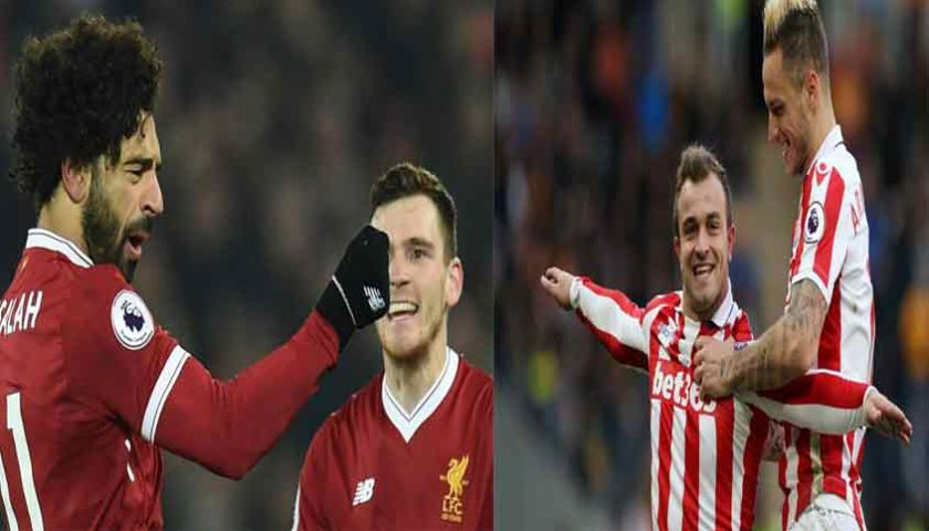 Liga Inggris Liverpool vs Stoke City 28 April 2018