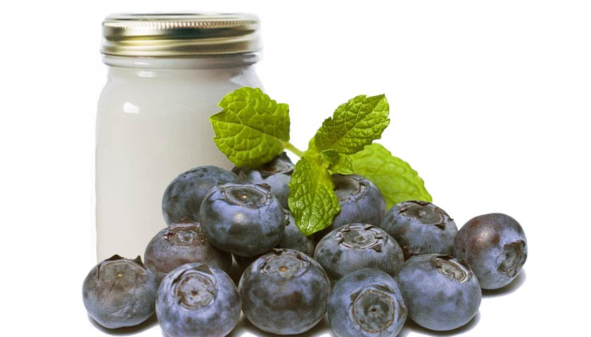 masker blueberry dan yogurt