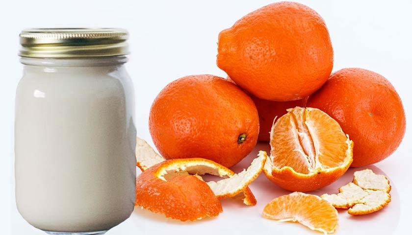 masker kulit jeruk dan yogurt
