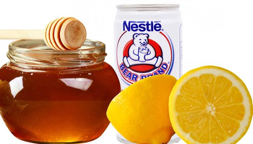 masker lemon susu dan madu