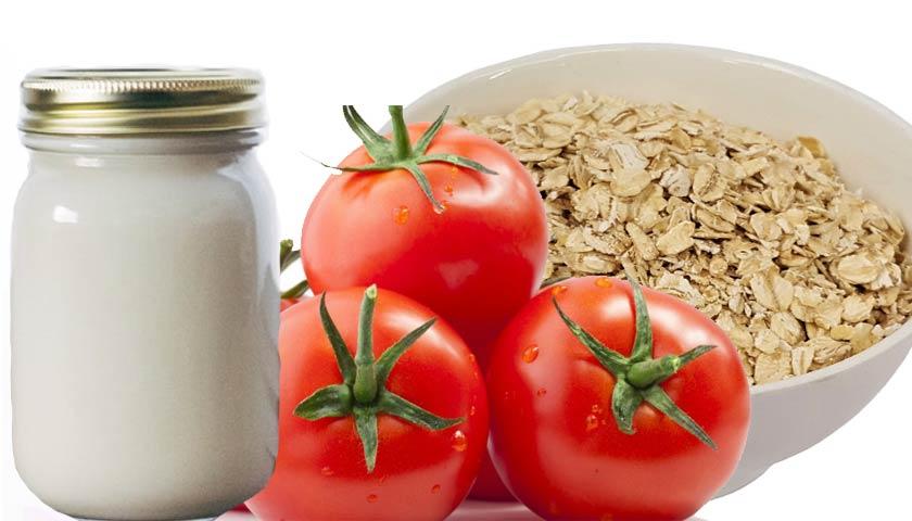 masker tomat yogurt dan oatmeal