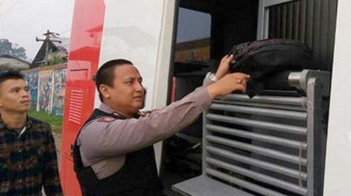 Penjagaan Polda Sumut Diperketat Dengan Mobil X-ray