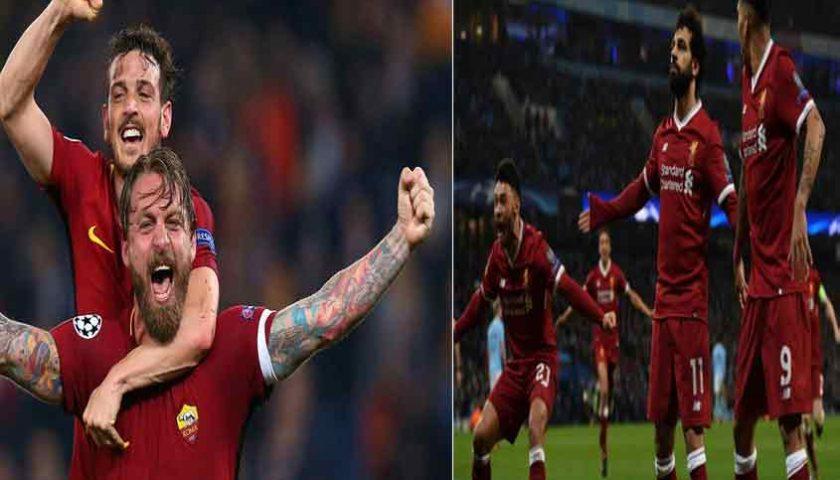 Semifinal Liga Champions AS Roma vs Liverpool 3 Mei 2018