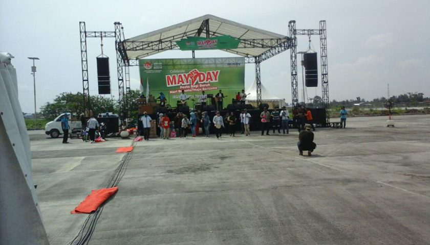 Perayaan May Day di KIM II Sepi