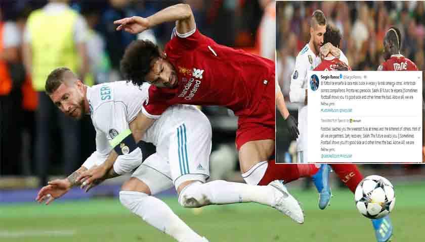 Sergio Ramos Kirim Permohonan Maaf Ke Mohamed Salah