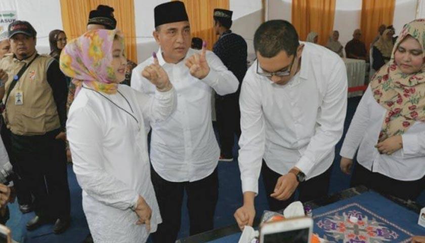 Usai Nyoblos di TPS 15, Edy Rahmayadi Bakal Sujud Syukur di Masjid Agung