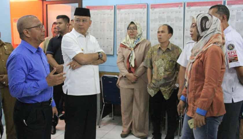 Pastikan Penyelenggaraan Pilgubsu Lancar, Wali Kota Tinjau KPU Medan