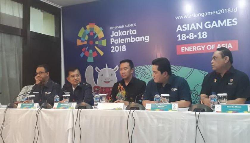 JK Pastikan Semua Venue Asian Games Siap Digunakan