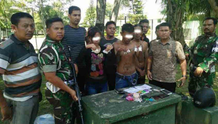 Ditangkap Kodam I/BB, Bandar Sabu Sembunyi Bareng Wanita Cantik