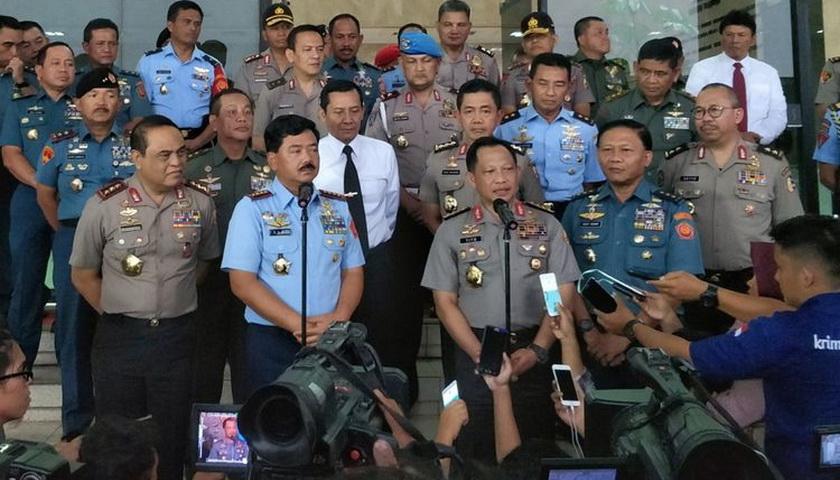 Kompaknya Kapolri dan Panglima TNI yang Bikin Jokowi Tenang