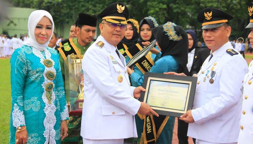 Wali Kota Irup Hari Jadi Kota Medan Ke-428, Medan Labuhan Kecamatan Terbaik Tingkat Kota Medan 2018