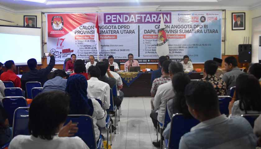 Pendaftaran Calon Anggota DPRD Provsu di KPU Sumut Dibuka