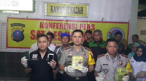 Polrestabes Medan Ringkus 3 Pengedar Narkoba, Satu Tewas Ditembak