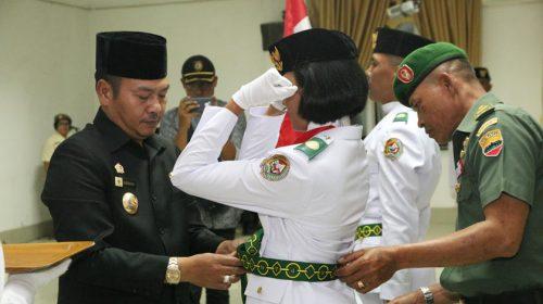 Bupati Taput Kukuhkan Paskibraka Tahun 2018