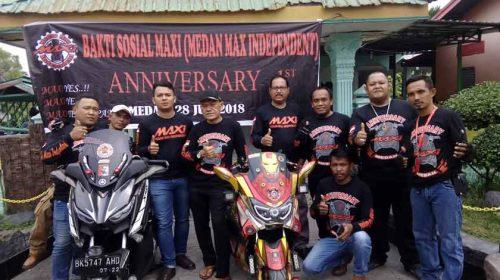 Anniversary Perdana, Medan Max Independent Gelar Baksos