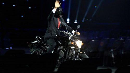Berbagai Makna Jokowi Naik Moge ke Pembukaan Asian Games