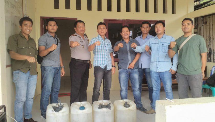 Polres Nias Selatan Sita 280 Liter Tuak Suling