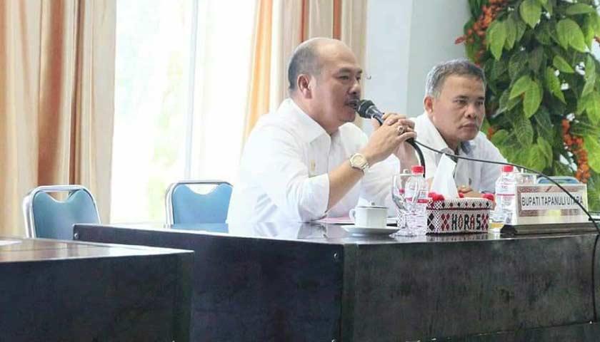 Bupati Taput Pimpin Rapat Koordinasi Interaktif dengan pihak BPN dan PLN