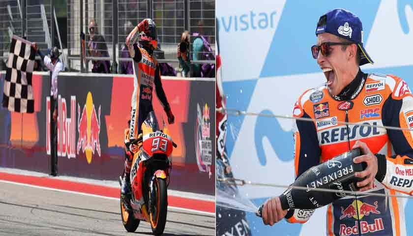 Marc Marquez Asapi Andrea Dovizioso di MotoGP Aragon
