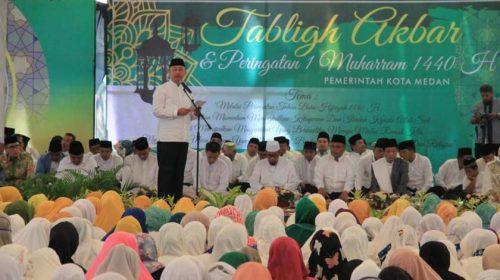 Ribuan Umat Islam Kota Medan Hadiri Tabligh Akbar