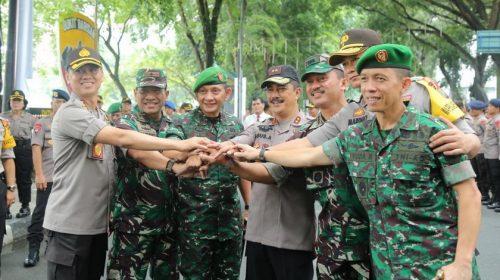 Dandim 0201/BS Ikuti Apel Gabungan Personel TNI dan Polri