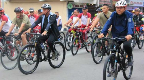 Wali Kota Medan Hadiri Olahraga Bersama TNI-Polri