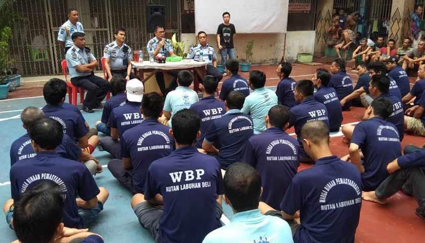 WBP Rutan Klas II Labuhan Deli Ikuti Evaluasi Pelayanan