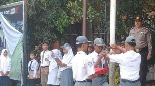 Antisipasi Tawuran Pelajar, Waka Polsek Medan Labuhan Jadi Pembina Upacara di Yayasan Budi Agung