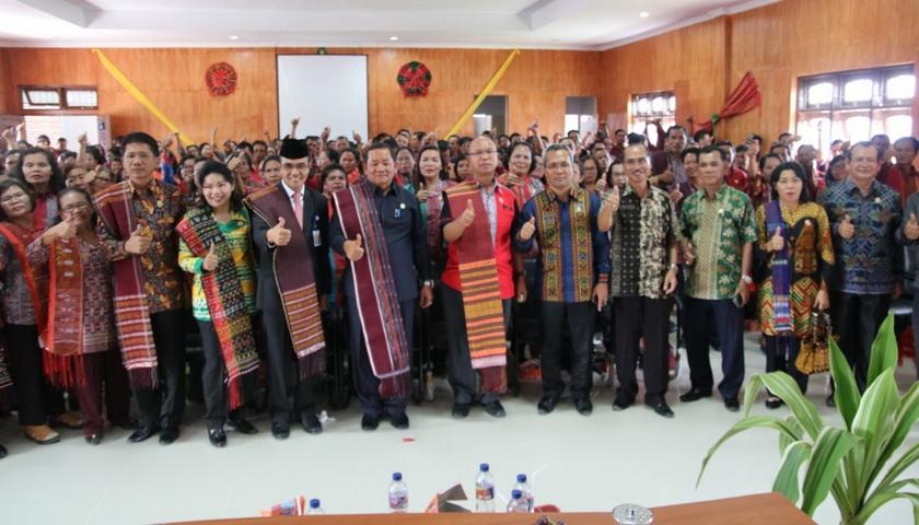Dinas Pendidikan Samosir Launching e-BOS