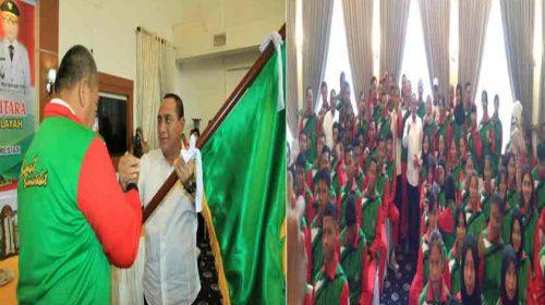 Gubsu Edy Rahmayadi Berangkatkan Kontingen Popwil Sumut ke Provinsi Aceh