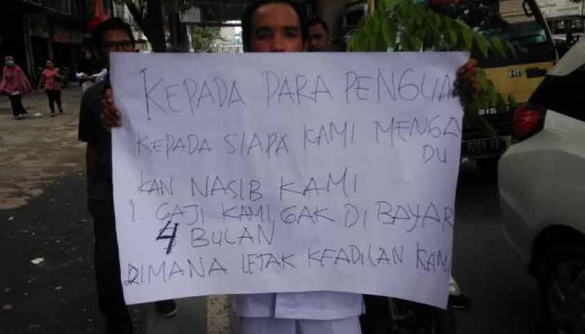 Honorer RS Pirngadi Mogok Kerja, 5 Bulan tak Gajian