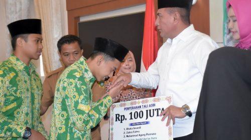 Penyerahan Tali Asih dan Penghargaan Kafilah MTQN XXVII
