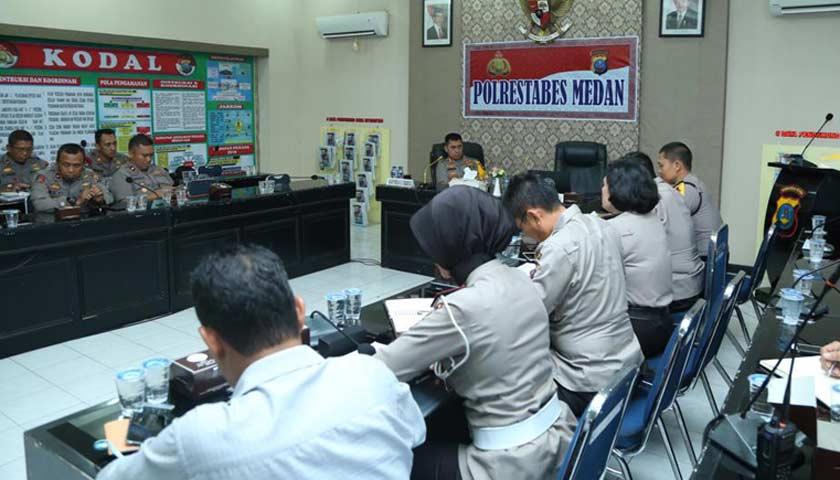 Kapolrestabes Medan Pimpin Anev dan Gelar Pasukan