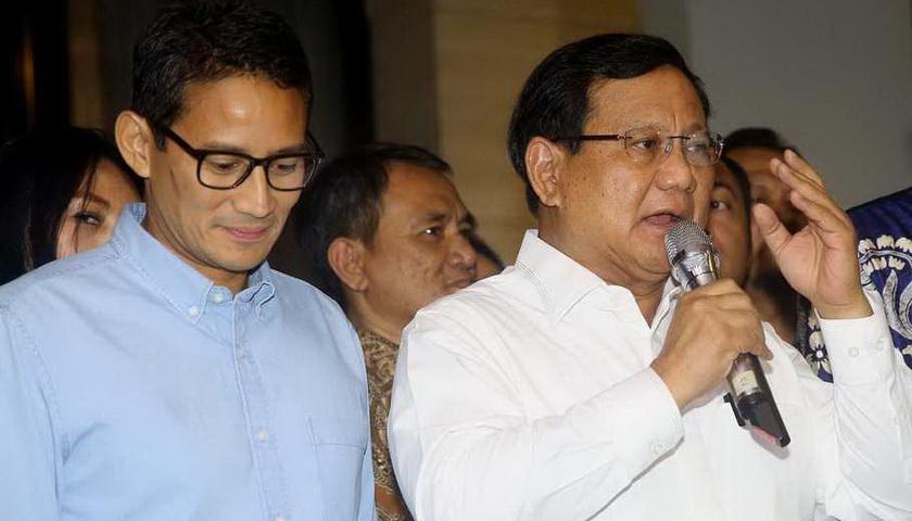 Prabowo-Sandi tak Sama dengan Sudirman dan Hatta